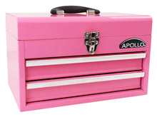 pink metal tool box tool chest with drawers apollo tools