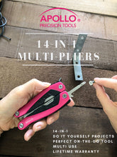 Apollo Tools Pink Multi Plier Multi Tool 14 in 1 screwdriver craft