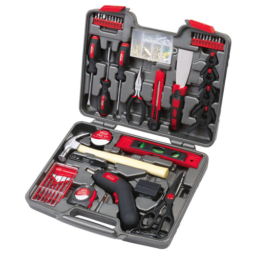 144 Piece Household Tool Kit with 4.8V Cordless Screwdriver - DT8422