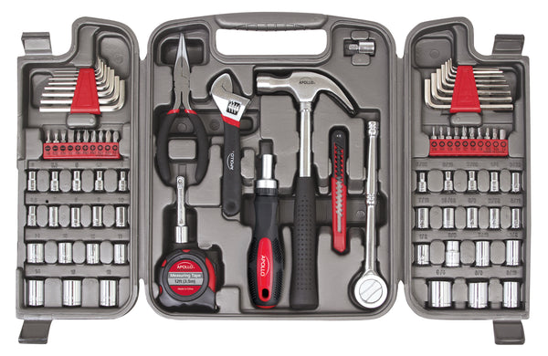 most reached-for hand tools and sockets used for automotive, mechanical and household repairs.