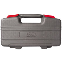 Red 39 piece general tool kit over 1 Million units sold worldwide. grey molded carrying case shown closed
