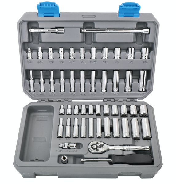 "50 Piece ¼"" Drive Socket Set SAE and Metric  -- DT0004"