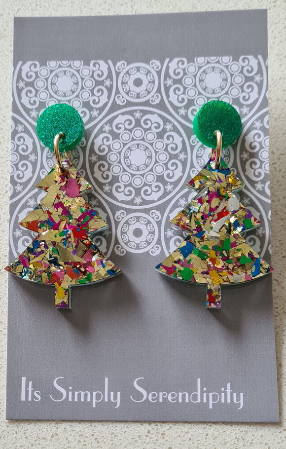 Gold Fiesta Christmas Tree Dangles