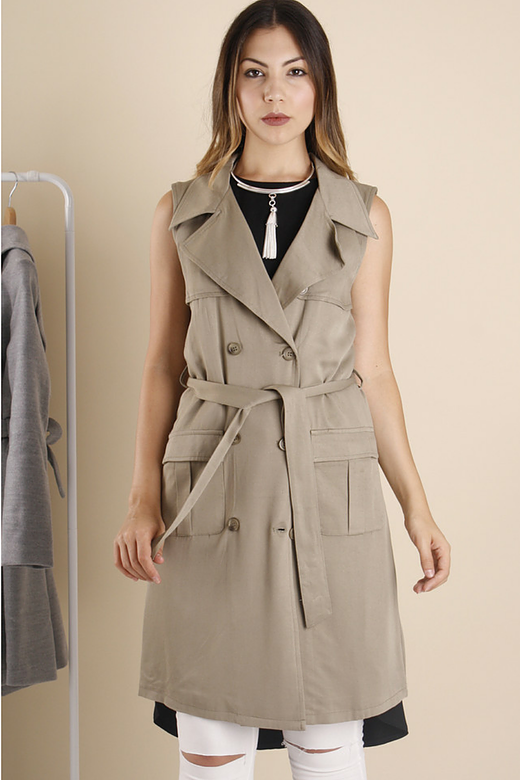 Adele Sleeveless Trench