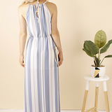 Isabel Striped Blue Maxi