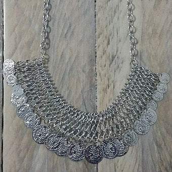 Mesh Silver Necklace