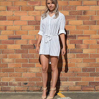 Sarah Striped T-shirt Dress