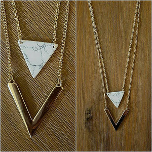 Triangle & Arrow Necklace