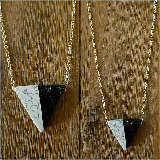 Triangle Marble Necklace