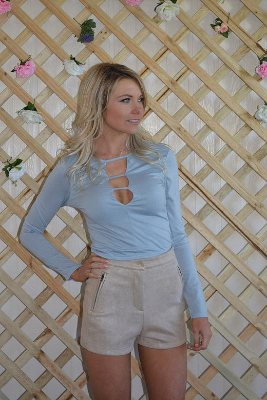 Penelope Blue Crop Top