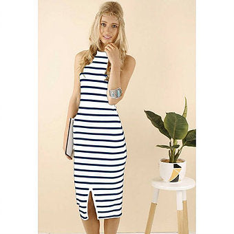 Skye Striped Bodycon Dress