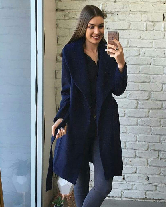 Grace Navy Trench Coat