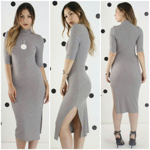 Grey Marle Zara Funnel Neck Dress