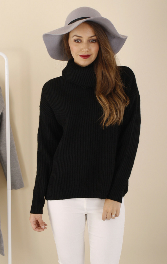 Ailie Black Turtleneck Knit