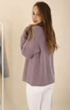 Ailie Mauve Turtleneck Knit
