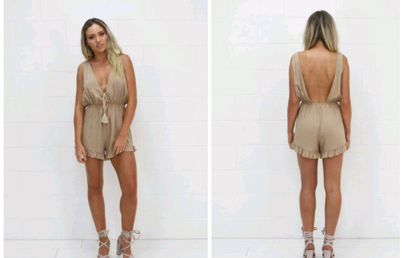 Mocha Playsuit