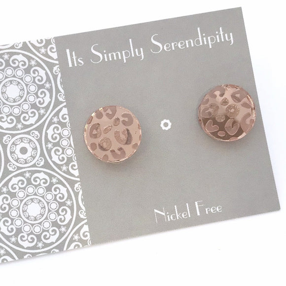 Rosegold Luxe Leopard Studs