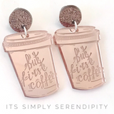 But First Coffee Earring Set