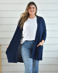 Navy Slouch Cardi