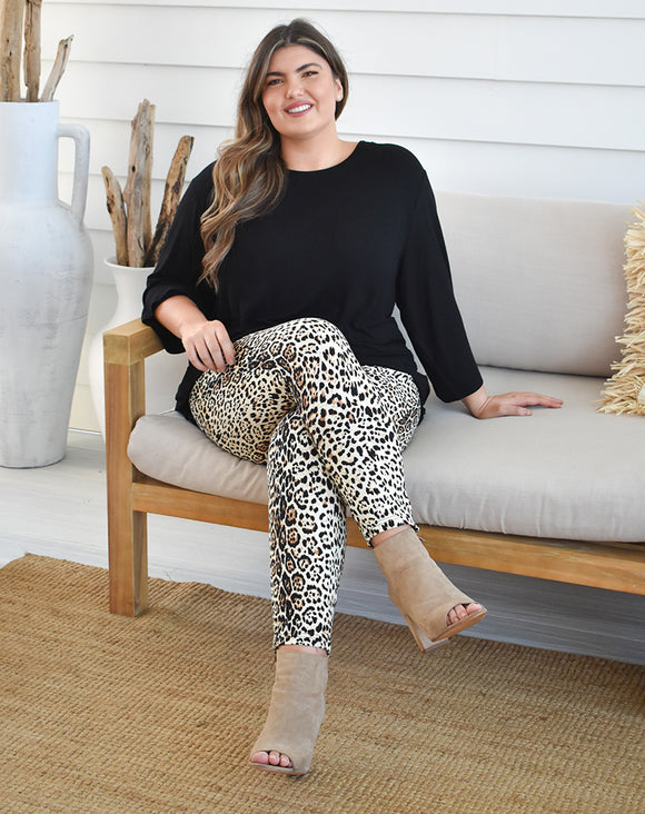 Mae Leopard Slouch Pants