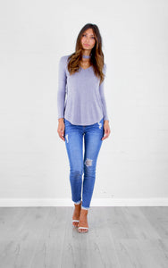 Bianca Grey Choker Top