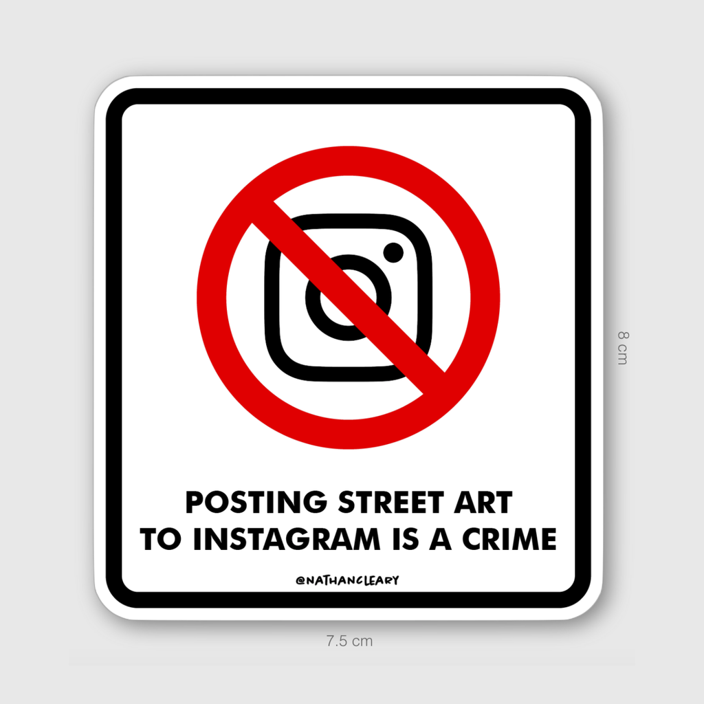 Posting Street Art Sticker