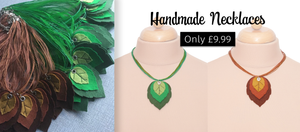 Handmade Leaf Necklaces