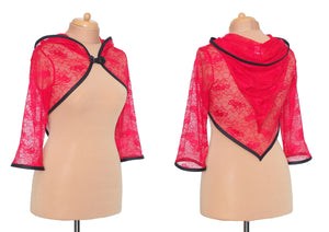 CLEARANCE | Korrigan Shrug | Sizes M, XL | Red lace - TPF Faerie Wear