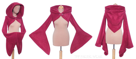 CLEARANCE | Korrigan Shrug | Size M | Wine - TPF Faerie Wear
