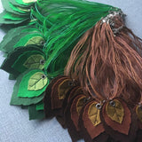 Handmade Leafy Necklace - Copper - TPF Faerie Wear