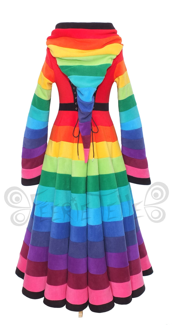 Full Length 'Tournedot' Jacket - Rainbow Fleece - TPF Faerie Wear