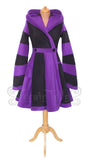 Knee Length 'Tournedot' Jacket - 2 Tone Fleece - Wide Stripes - TPF Faerie Wear