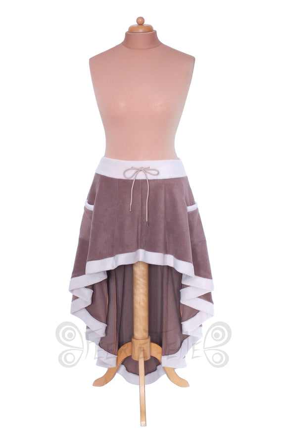 'Telmandolle' Hi-Low Skirt - Polar Fleece