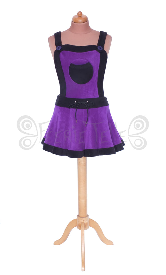 Plain fleece Dungaree 'Telmandolle' Mini Skirt - TPF Faerie Wear
