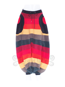 'Harouel' Pants - 6 Tone Fleece - Narrow Stripes - TPF Faerie Wear