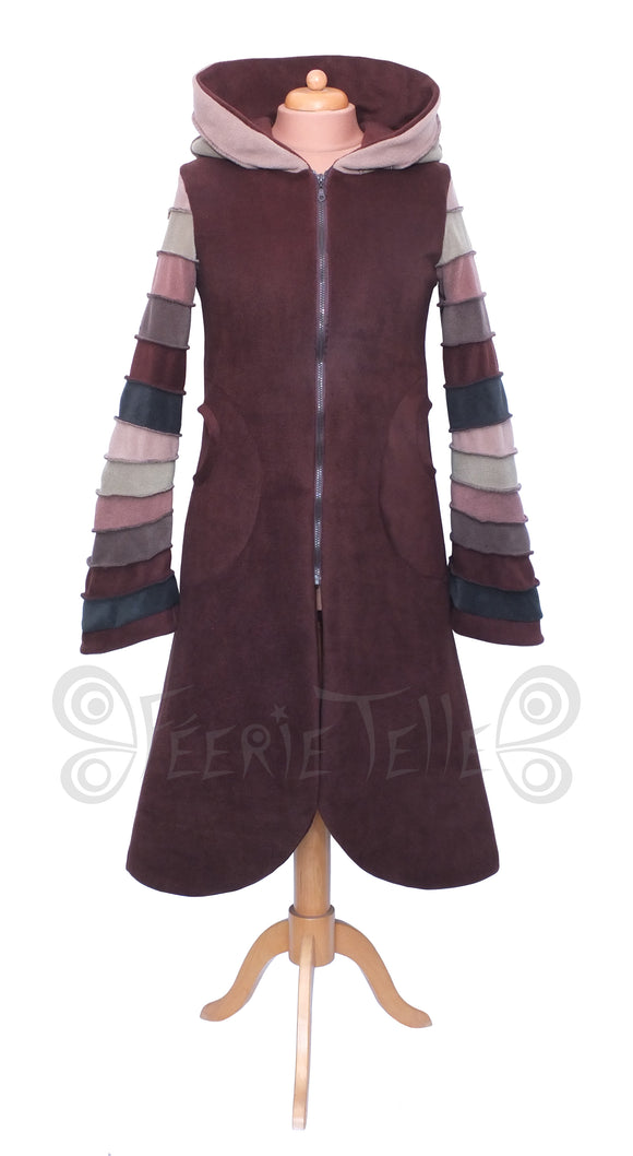 Fleece Long Zip Up 'Arabelle' Hoodie / Jacket - 6 tone. - TPF Faerie Wear