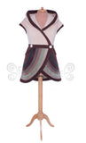 'Sulvane' Hooded Waistcoat Vest - 6 tone stripes - TPF Faerie Wear