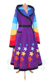 Ankle Length Starry 'Tournedot' Jacket - 6 Tone - Wide Stripes - TPF Faerie Wear