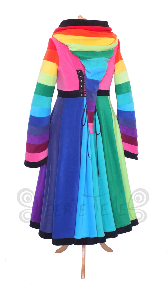 Ankle Length 'Tournedot' Jacket - Rainbow Fleece - TPF Faerie Wear