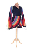 'Sulvane' Jacket - 6 tone stripes , swirly sleeves