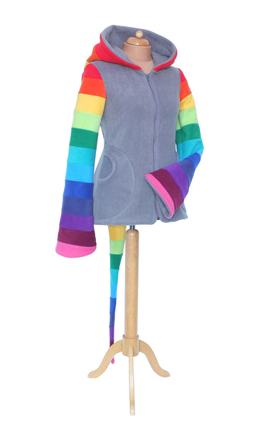 Rainbow Zip up Arabelle hoodie