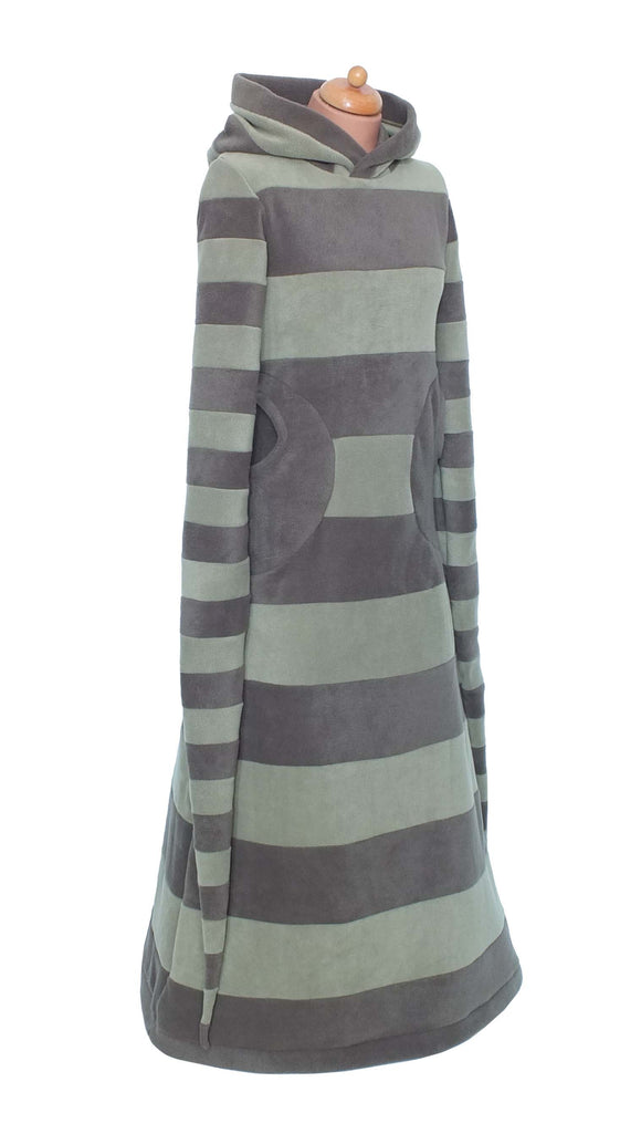 Long Stripey 'Arabelle' Hoodie / Dress - 2 tone. - TPF Faerie Wear