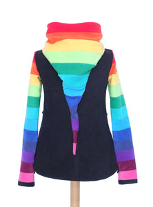 Rainbow Zip up Arabelle hoodie - TPF Faerie Wear