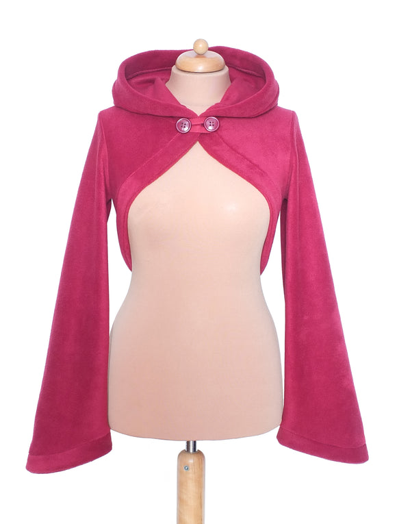 Fleece new style 'Korrigan' Shrug with Pointed Pixie Hood (5 lengths available) and Sidhe sleeves - TPF Faerie Wear
