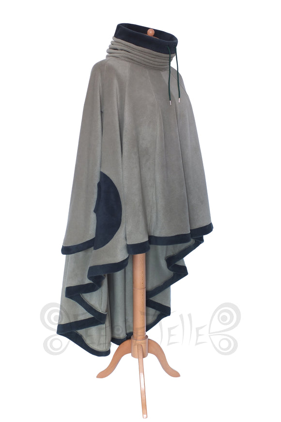 Hi-low 'Dolmantelle' Tunic with cowl hood