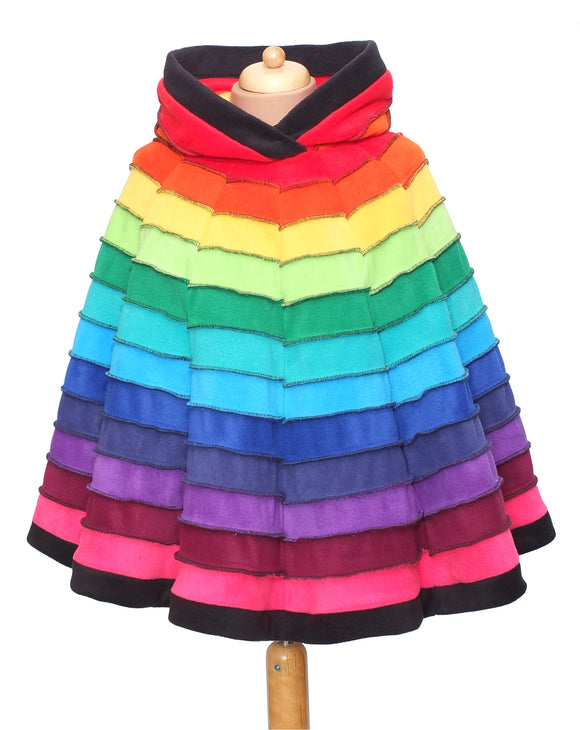 Rainbow Striped 'Dolmantelle' Poncho - TPF Faerie Wear