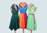 Rainbow 'Tournedot' Dress - Knee length with pixie hem - TPF Faerie Wear