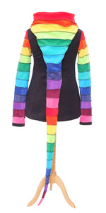 Rainbow Zip-up Arabelle hoodie - TPF Faerie Wear