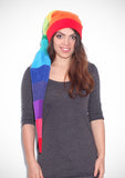 Rainbow short pixie hat - TPF Faerie Wear
