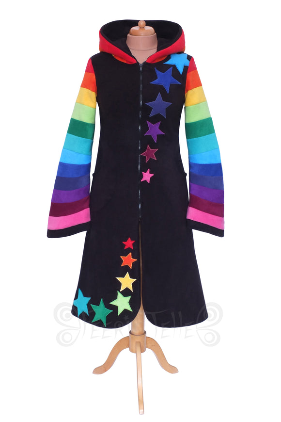 Under knee Length Starry Rainbow Zip-up Arabelle Hoodie / Jacket